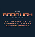 the borough trendy retro display font design vector image vector image