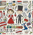 travel to england seamless pattern for your vector image