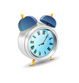 vintage old style blue color and metal alarm vector image