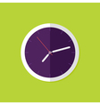 Watch Flat Icon over Green vector image vector image