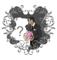 Wedding couple 11 vector image vector image