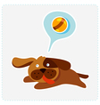 cute cartoon dog is running and playing vector image