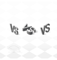 Versus letters logo Grey V and S isometric symbol vector image