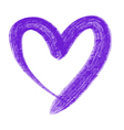 violet heart vector image