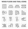 Wood floor method vector image