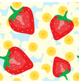 red strawberry and flower vector image