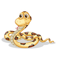 A scary snake vector image vector image