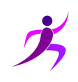 abstract fitness person vector image
