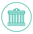 Acropolis of Athens line icon vector image