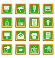 advertisement icons set green vector image vector image