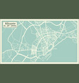 alicante spain city map in retro style outline map vector image vector image