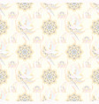 beautiful fabric pattern on neutral beige and vector image vector image