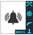bell icon flat vector image vector image
