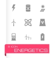 black energetics icon set vector image vector image