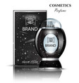 black perfume bottle stylish shiny transparent vector image vector image