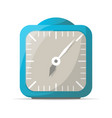 blue analog alarm clock icon vector image