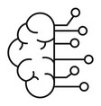 brain ai smart icon outline style vector image vector image