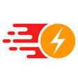 bright electric charge with fast speed effect vector image