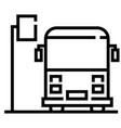 bus stop line vector image vector image