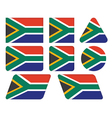 buttons with flag of South Africa vector image vector image