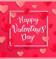 card for happy valentines day vector image vector image