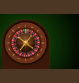 casino roulette on green cloth vector image