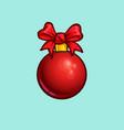 christmas cartoon icon - bow ball vector image vector image