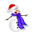 christmas snowman cartoon design for card winter vector image vector image