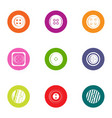 clasp icons set flat style vector image vector image