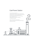 Coal Power Station Poster Brochure vector image vector image
