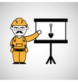 construction man and shovel graphic vector image