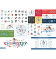 digital biotechnology icons set vector image