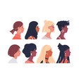 diverse women portrait set isolated vector image