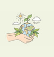 ecology sustainable nature planet conversation vector image