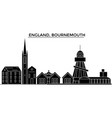 england bournemouth architecture city vector image