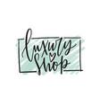fashion boutique logo clothes vector image
