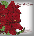 flower invitation save date card template vector image vector image