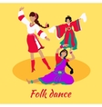 Folk Dance Concept Flat Design vector image