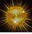 gold mirror ball vector image vector image