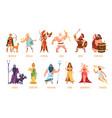 greek gods pantheon mythological olympian gods vector image