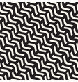 hand drawn scattered wavy lines monochrome texture vector image vector image