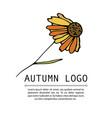 handdrawn doodle logo vector image
