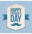 Happy Fathers Day realistic Banner with Ribbon vector image vector image