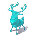ice figurine of a deer isolated on a white vector image vector image