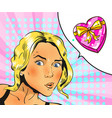 in retro comic pop art style vector image vector image