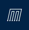 letter m font maze italic geometric vector image vector image