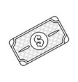 line bill dolar money vector image