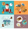 Lumberjack woodcutter composition vector image vector image