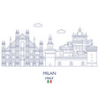 milan city skyline vector image
