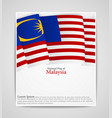 national flag brochure of malaysia vector image vector image